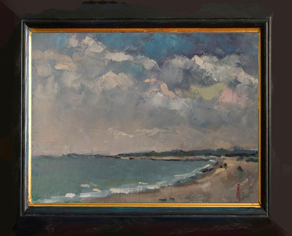 """West Beach, West Sussex"" original fine art by Andre Pallat"