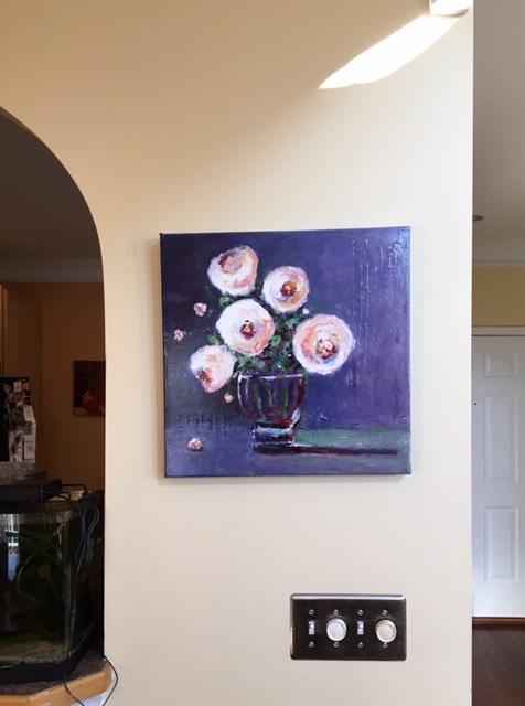 """""""PEONIES"""" original fine art by Olga Wagner"""