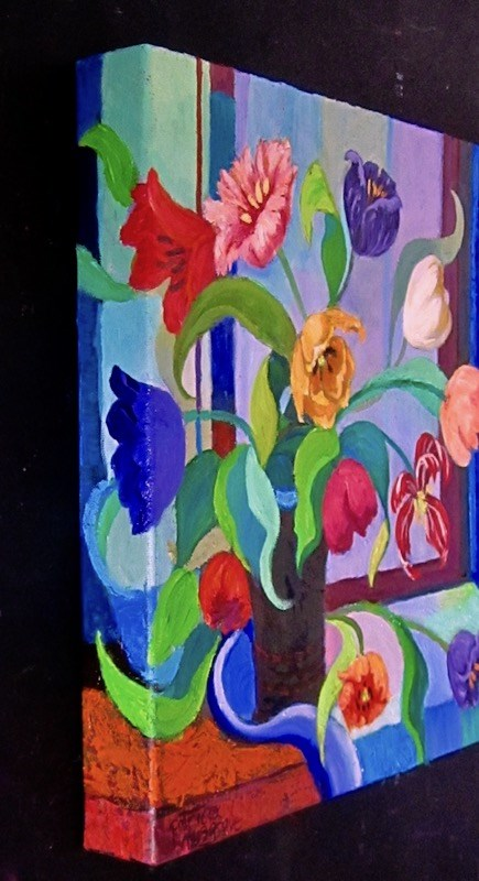 """Modern Tulips"" original fine art by Patricia Musgrave"