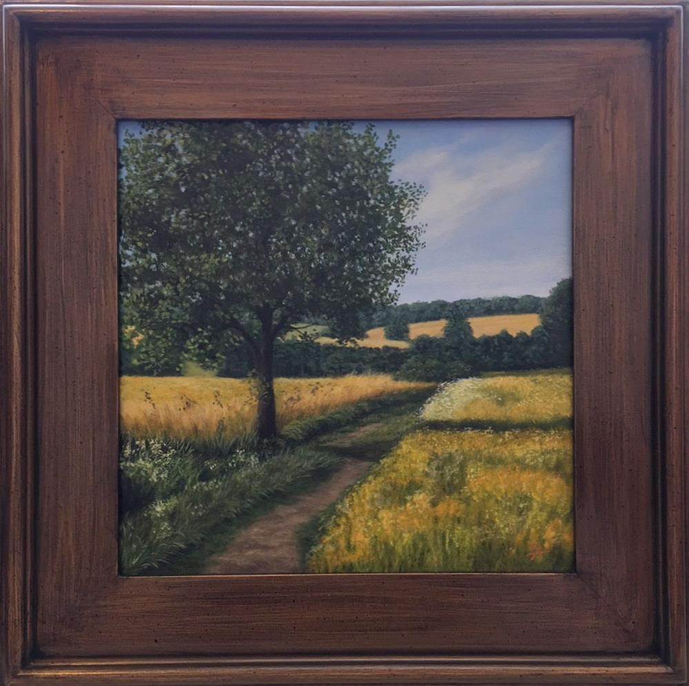 """""""Sunny Day Framed"""" original fine art by Elizabeth Elgin"""