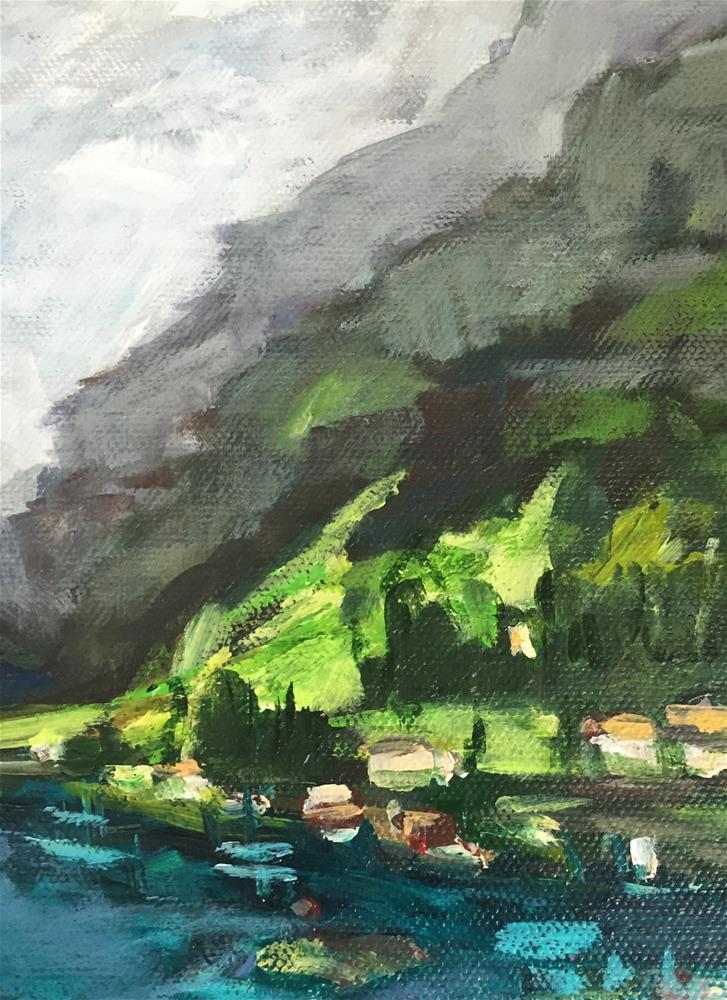 """Nærøyfjord View"" original fine art by Alina Vidulescu"