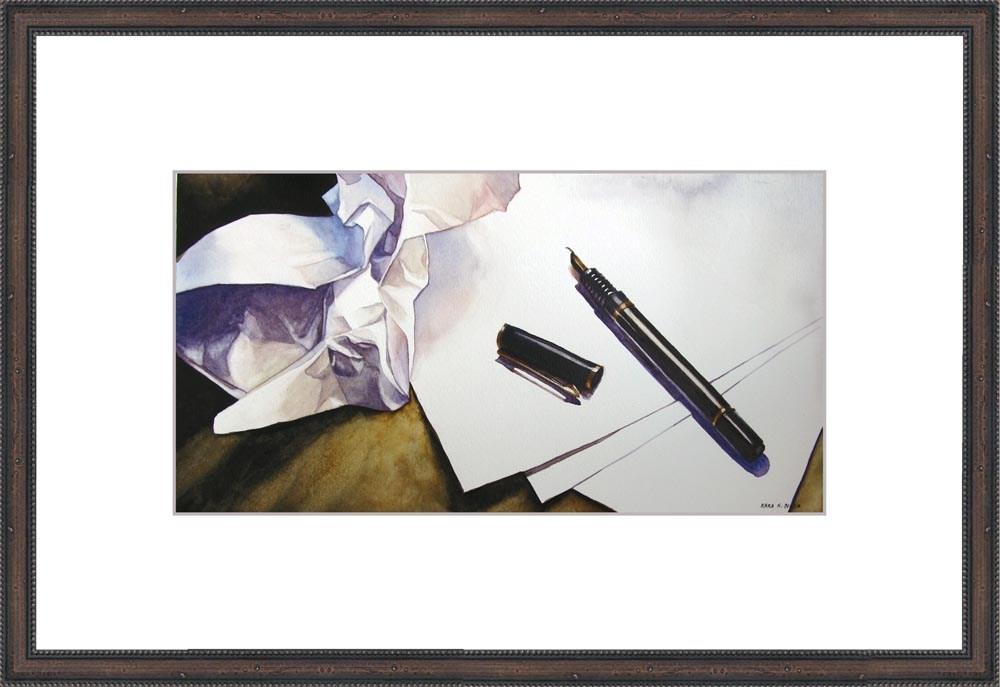 """Writer's Block"" original fine art by Kara K. Bigda"