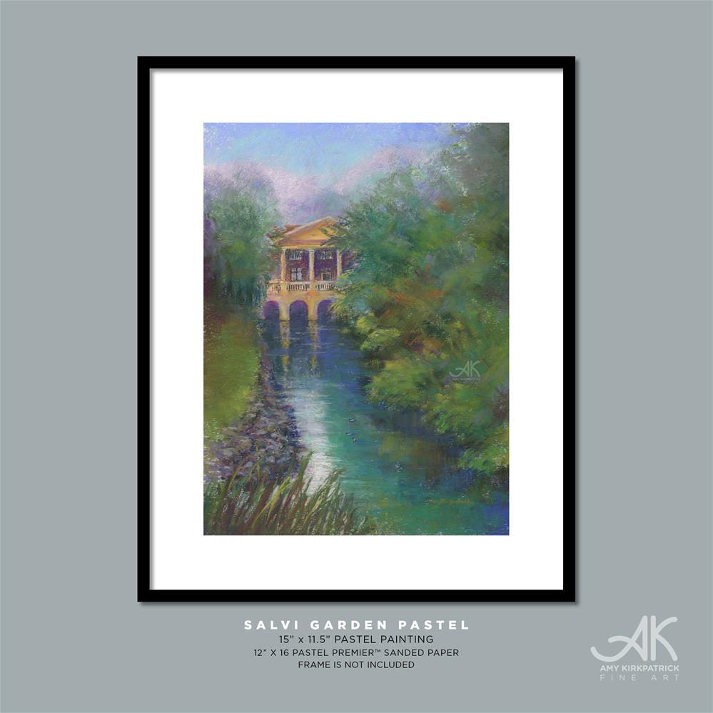 """SALVI GARDEN PASTEL #0704"" original fine art by Amy Kirkpatrick"