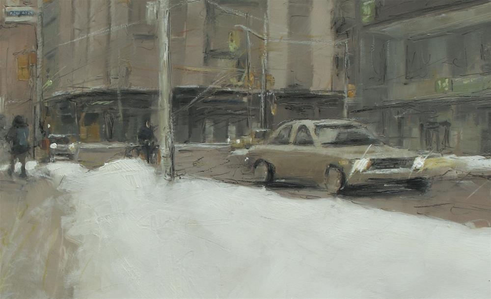 """Deeper snow"" original fine art by Zoran Rnjak"