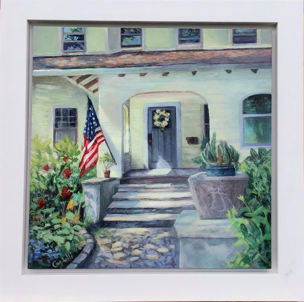 """""""Morning and Old Glory"""" original fine art by Anna Castelli"""