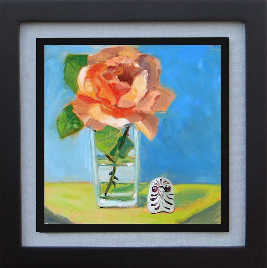 """First Spring Rose"" original fine art by Rhett Regina Owings"