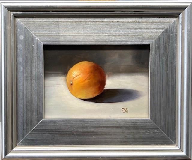 """""""Solitary Orange"""" original fine art by Elaine Brady Smith"""