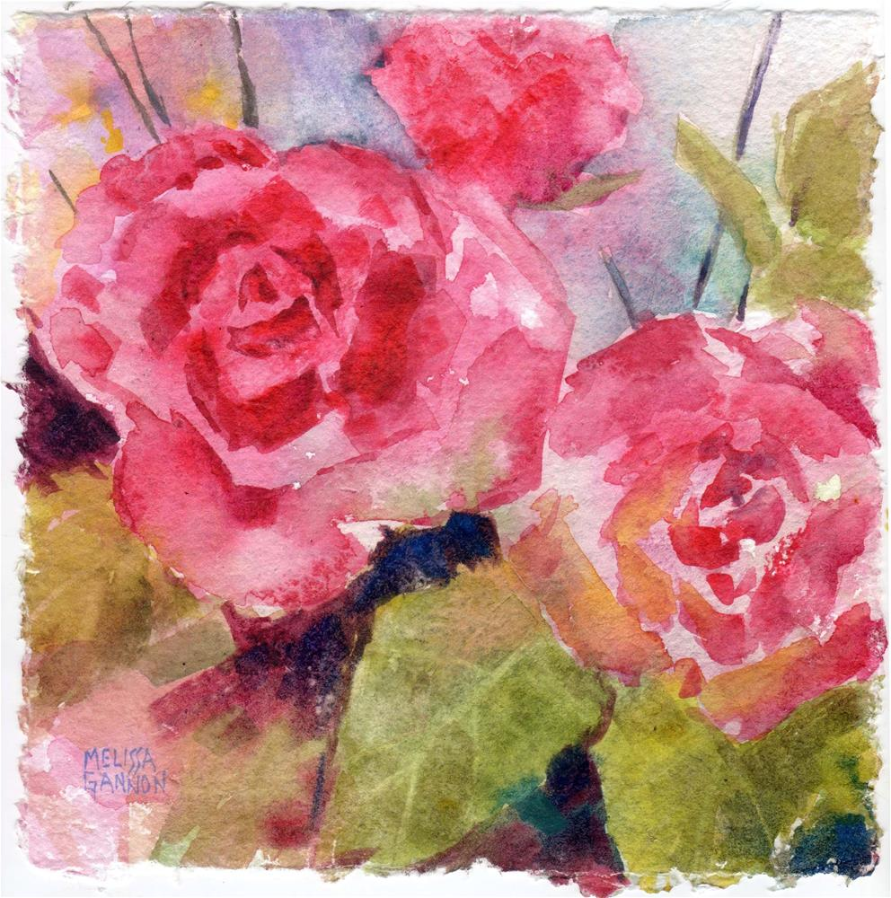 """Roses Singing"" original fine art by Melissa Gannon"