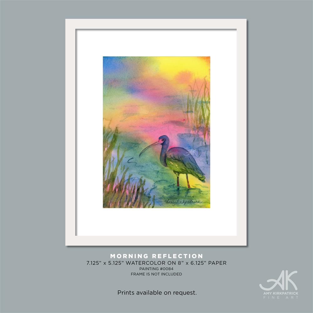 """MORNING REFLECTION #0084"" original fine art by Amy Kirkpatrick"