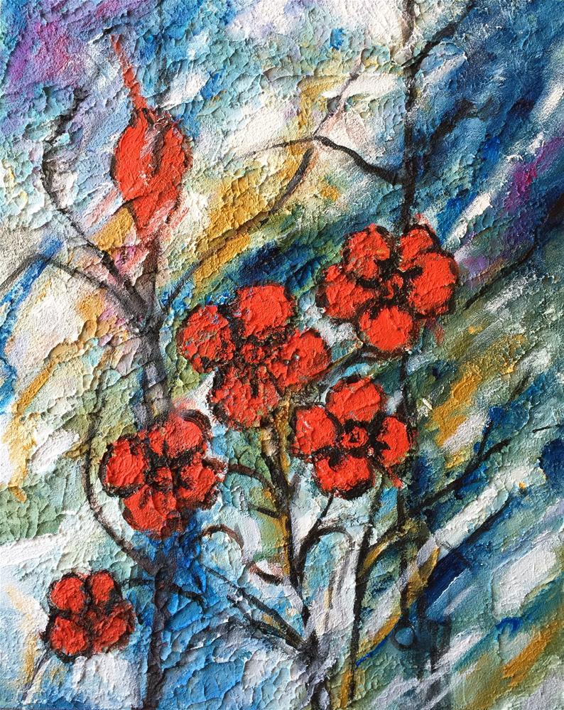 """""""Reds and blues"""" original fine art by Monica Pinotti"""