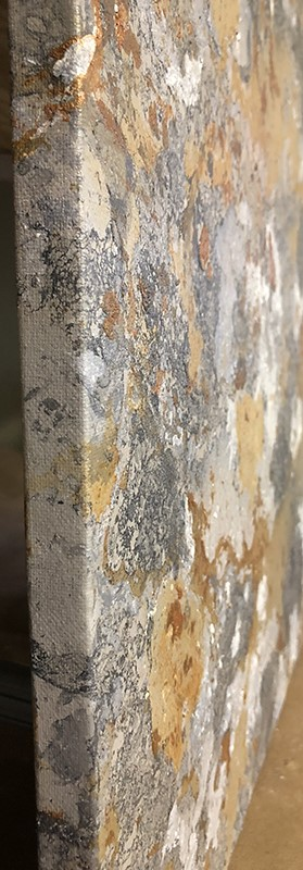 """Copper & Gray Abstract Art"" original fine art by Sunny Avocado"