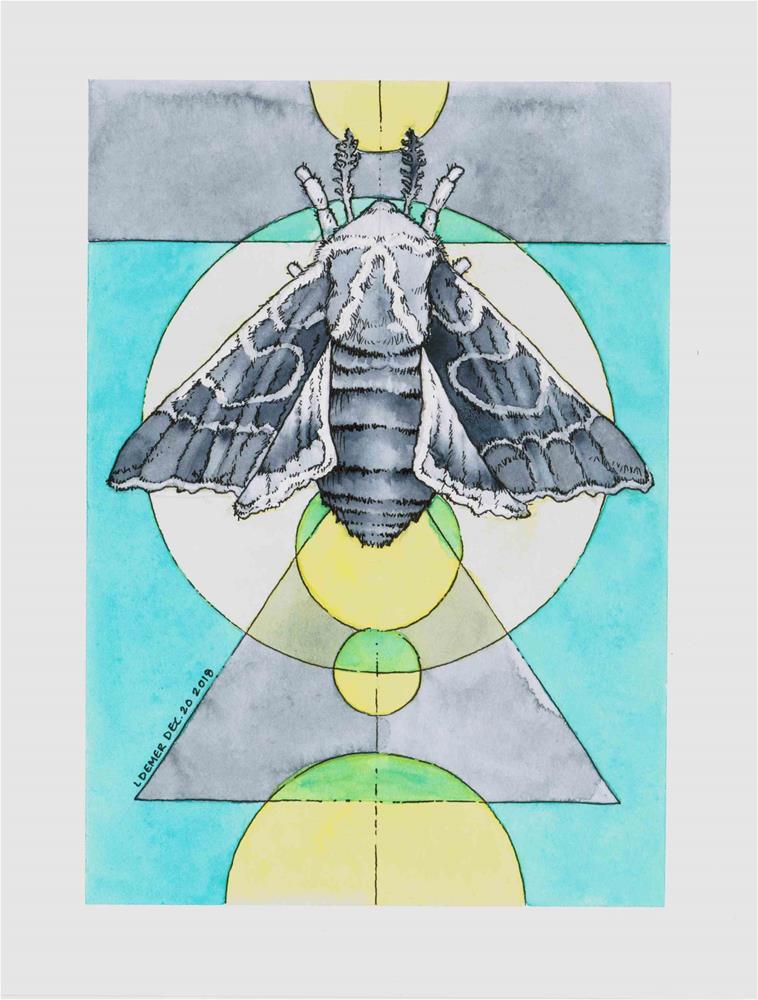 """""""Fuzzy Wings"""" original fine art by Liz Demer"""