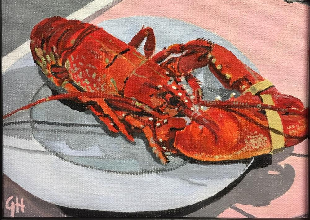 """""""Lobster"""" original fine art by Garima Heath"""