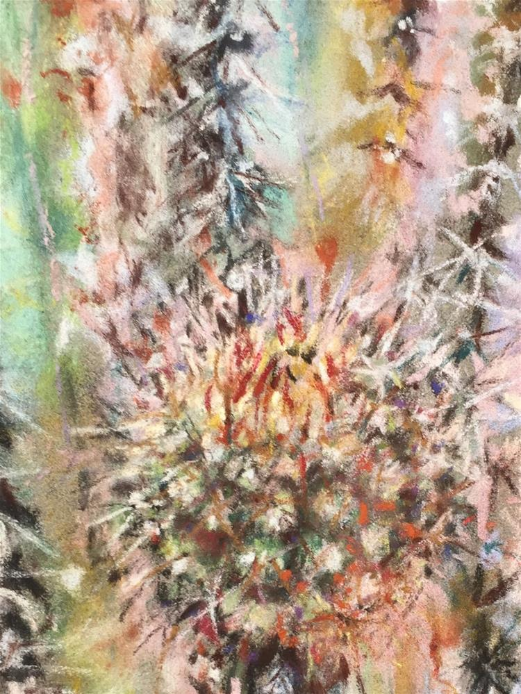 """Saguaro Baby"" original fine art by Jean Krueger"