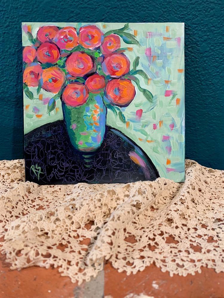 """""""The Gift"""" original fine art by Roberta Schmidt ArtcyLucy"""