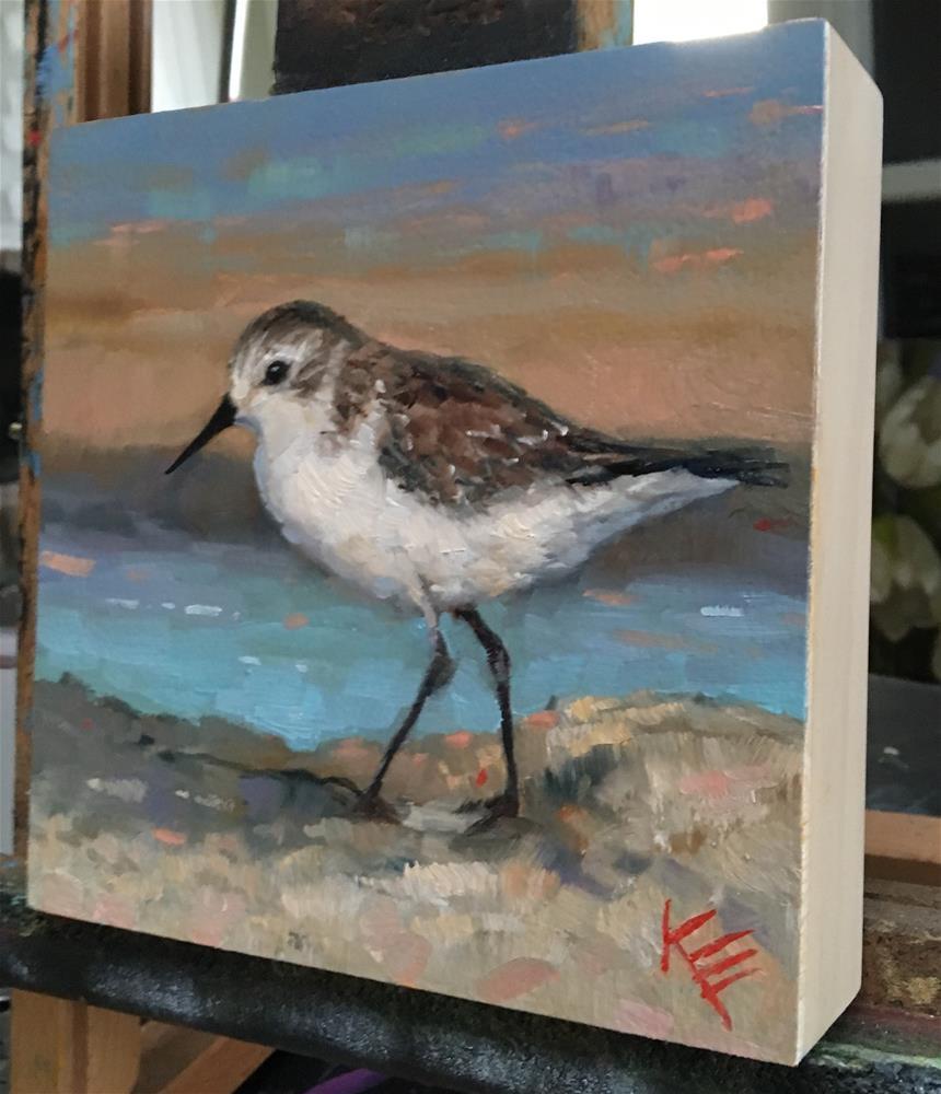 """Western Sandpiper"" original fine art by Krista Eaton"