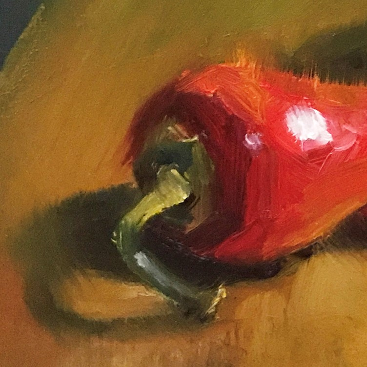 """Hot Stuff"" original fine art by Marilyn M King"