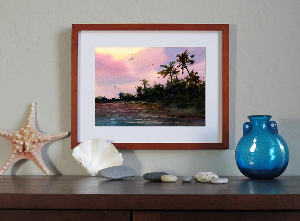 """Sunrise in Paradise"" original fine art by Linda Henry"