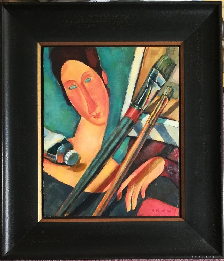 """Master Class with Jeanne (framed)"" original fine art by Katya Minkina"