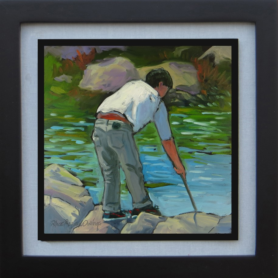 """Exploring the Tide Pools"" original fine art by Rhett Regina Owings"