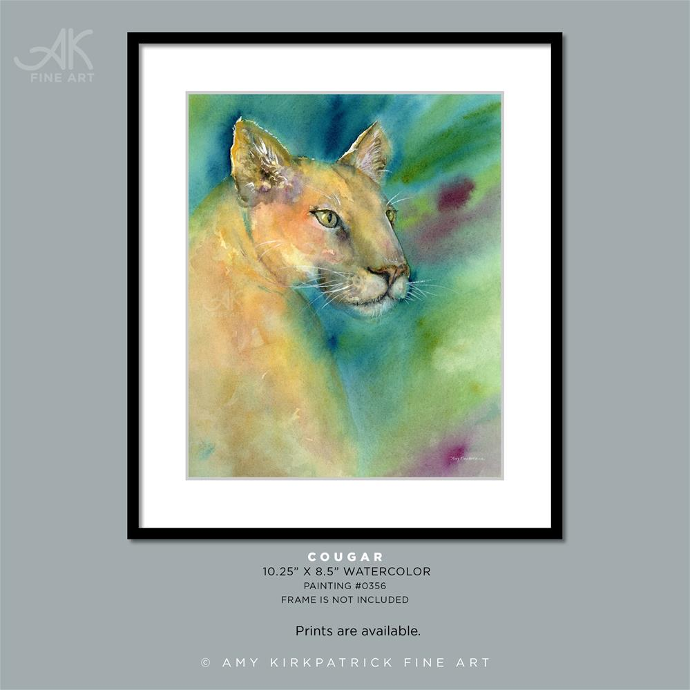 """COUGAR #0356"" original fine art by Amy Kirkpatrick"
