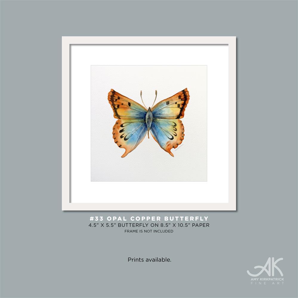 """""""#33 Opal Copper Butterfly #0342"""" original fine art by Amy Kirkpatrick"""