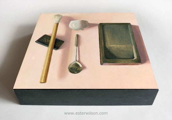 """Pink Ink"" original fine art by Ester Wilson"