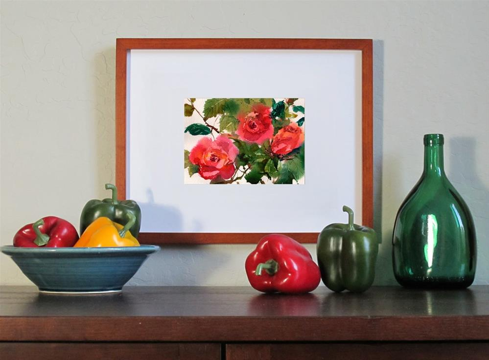 """""""My Love is Like a Red Red Rose"""" original fine art by Linda Henry"""