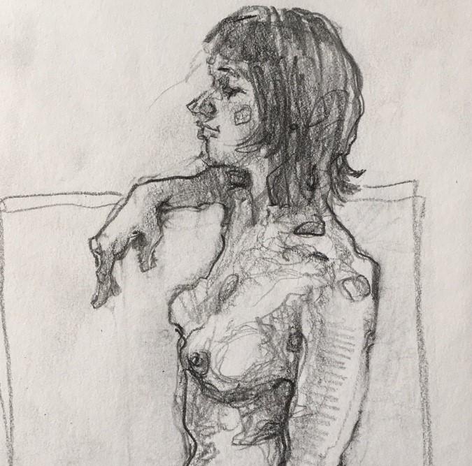 """Figure76"" original fine art by Katya Minkina"