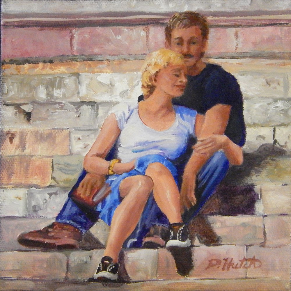 """Contentment"" original fine art by Diane Hutchinson"