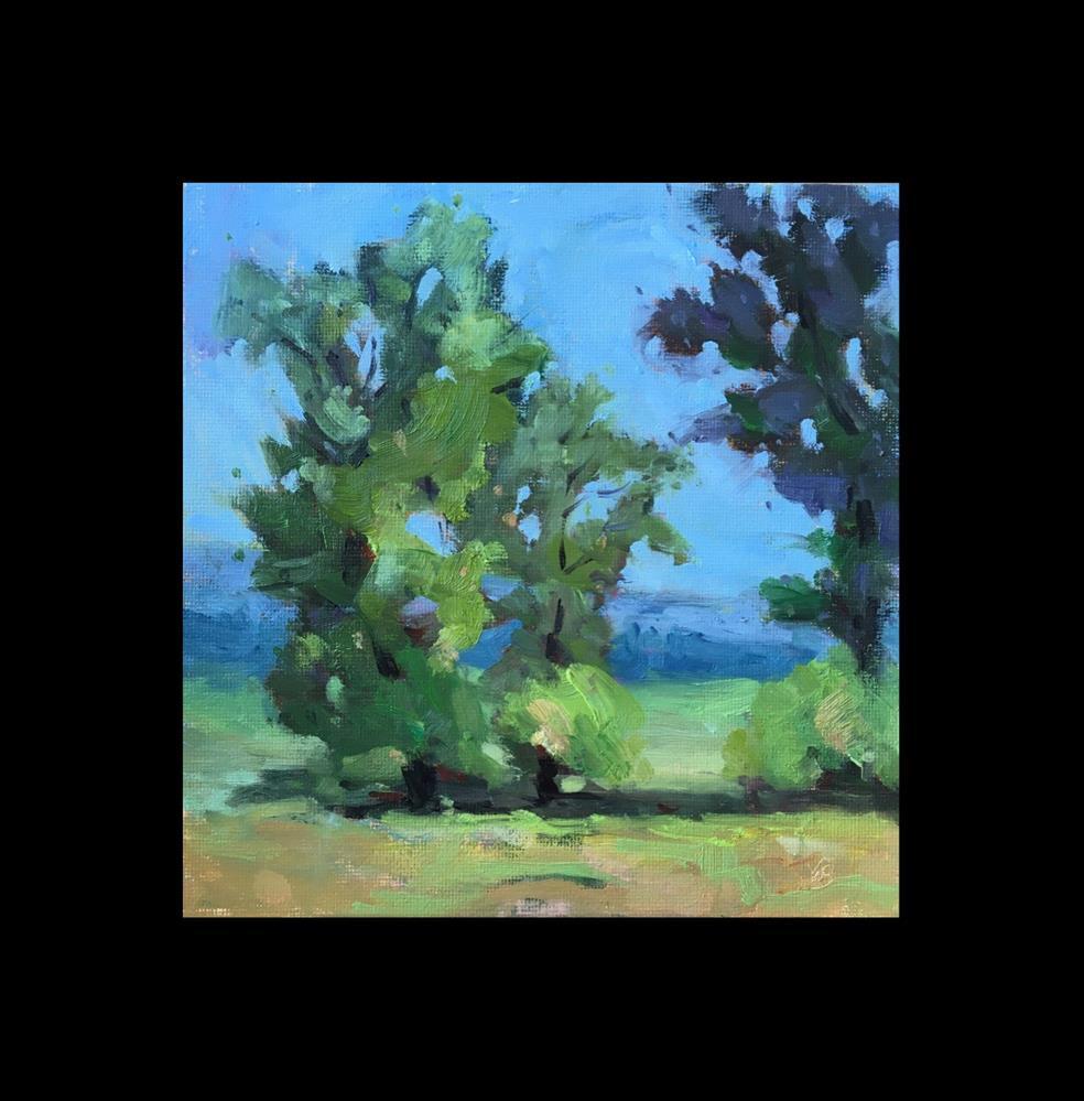 """Trees at the Farm"" original fine art by Victoria  Biedron"