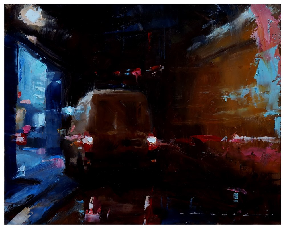 """__19:34__"" original fine art by Angel Angelov"