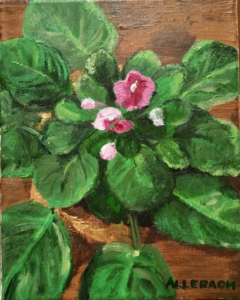 """My African Violets"" original fine art by Jo Allebach"