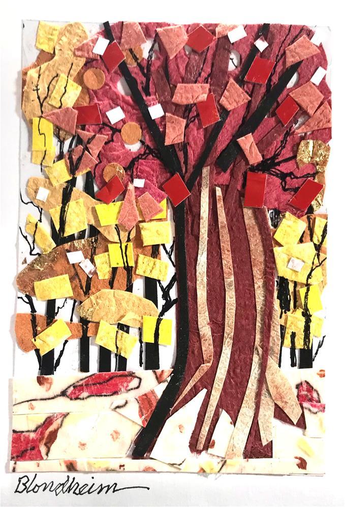 """Fall Trees Collage"" original fine art by Linda Blondheim"