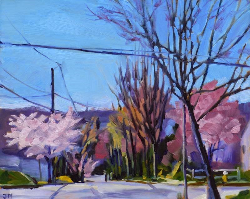 """On the Way to School"" original fine art by Jessica Miller"