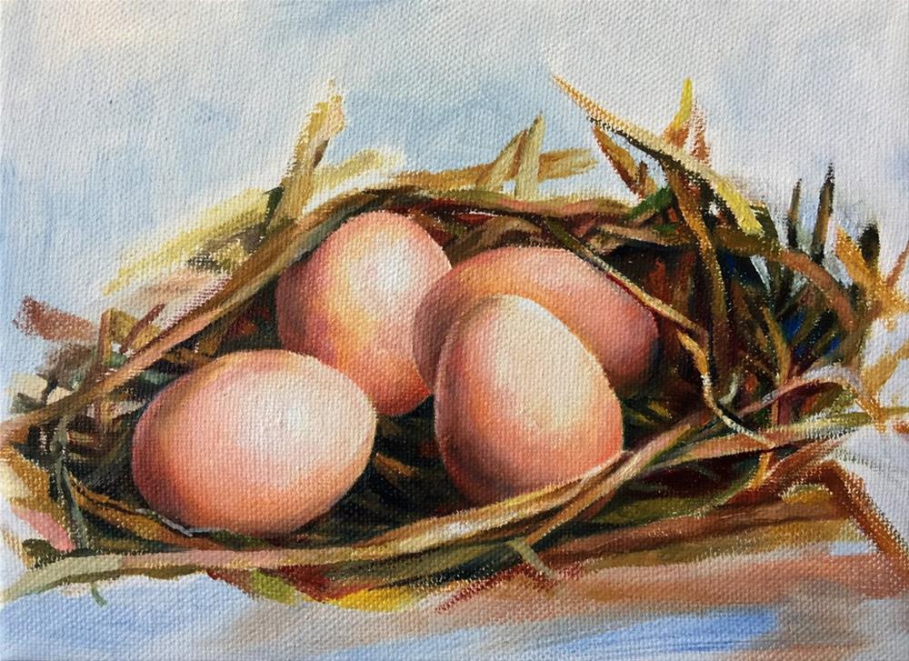 """""""Eggs"""" original fine art by Joy Cai"""