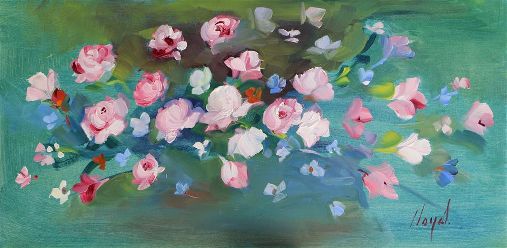 """Random Blossoms"" original fine art by Diane Lloyd"