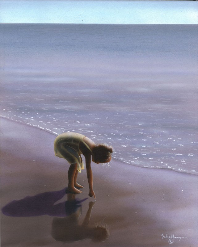 """The Beach Explorer"" original fine art by Fred Schollmeyer"