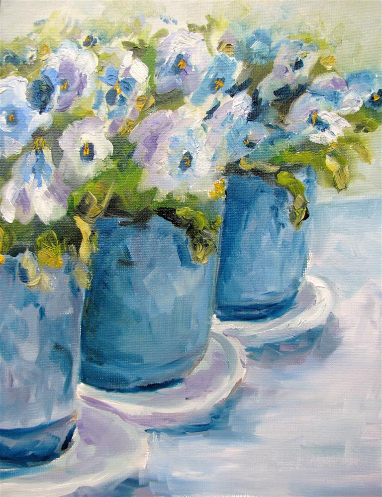 """""""Three Pots"""" original fine art by Susan Elizabeth Jones"""