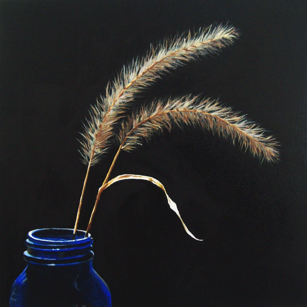 """Fall Grasses"" original fine art by Jacqueline Gnott, TWSA, WHS"