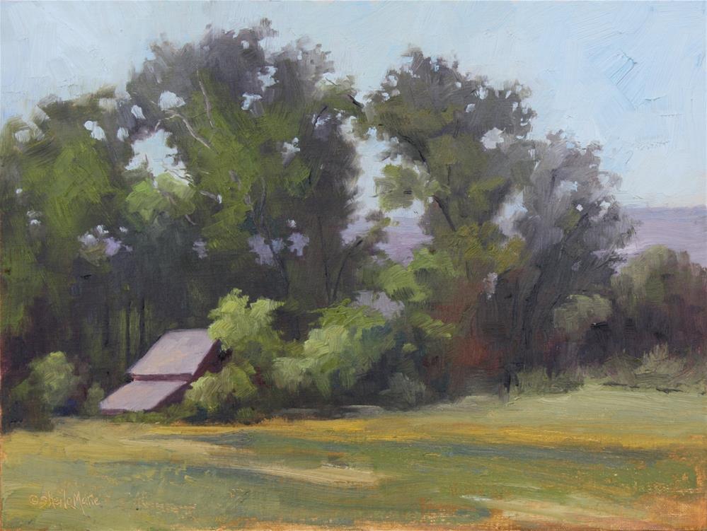 """Coal Mine Road Barn"" original fine art by Sheila Marie"