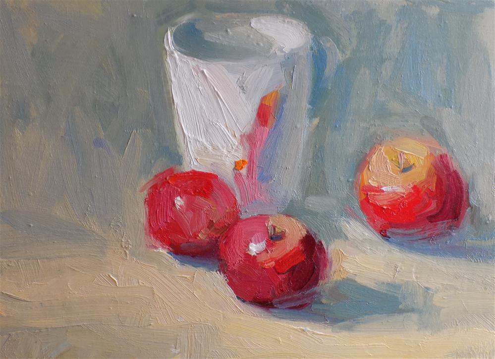 """Apple Reflection"" original fine art by Rita Brace"