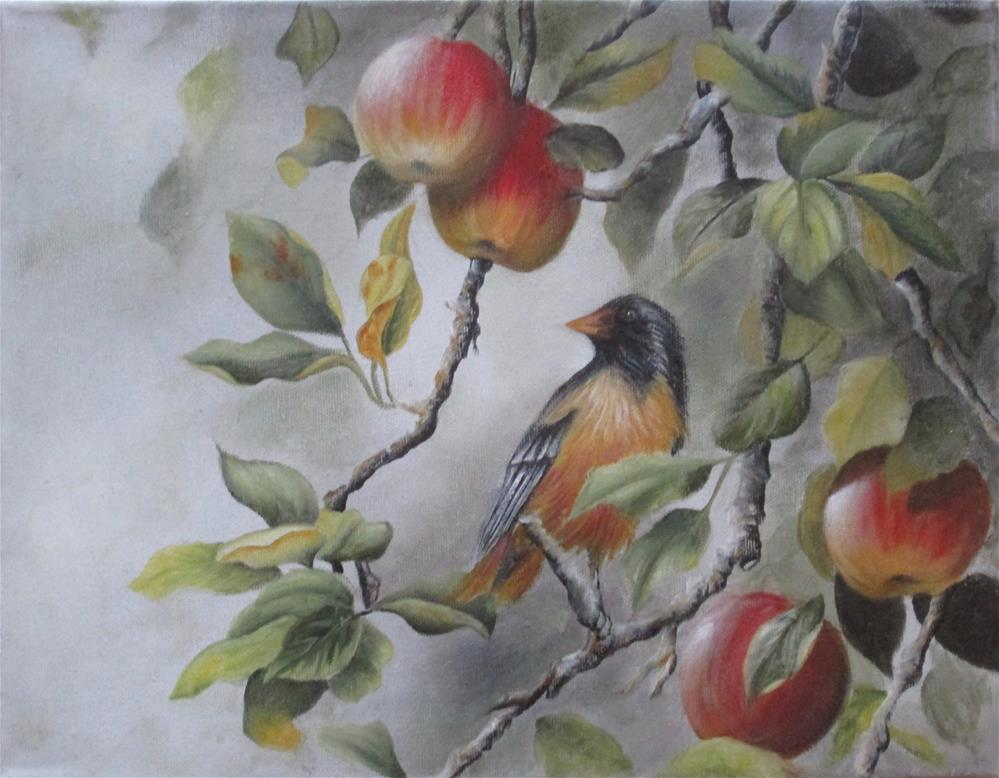 """In the Apple Tree"" original fine art by Barbara Wagner"