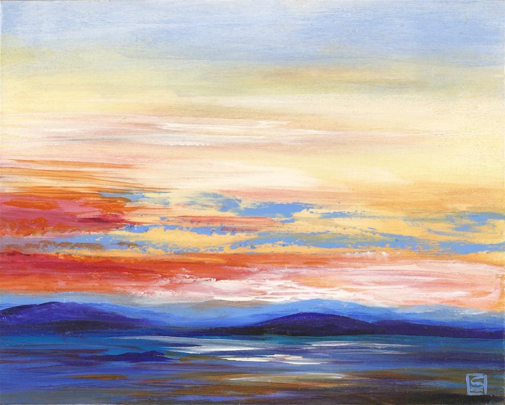 """6070 - The Setting Sun"" original fine art by Sea Dean"