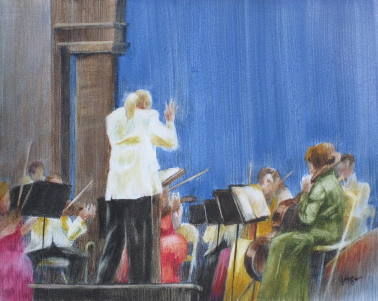 """Symphony at the Bowl"" original fine art by Ginger Pena"
