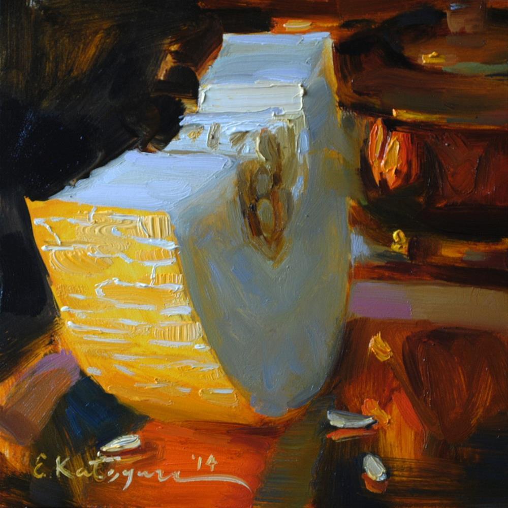 """Cantaloupe and Copper"" original fine art by Elena Katsyura"