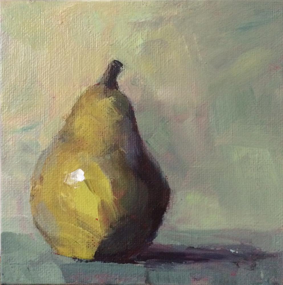 """Single Pear"" original fine art by Shannon Bauer"