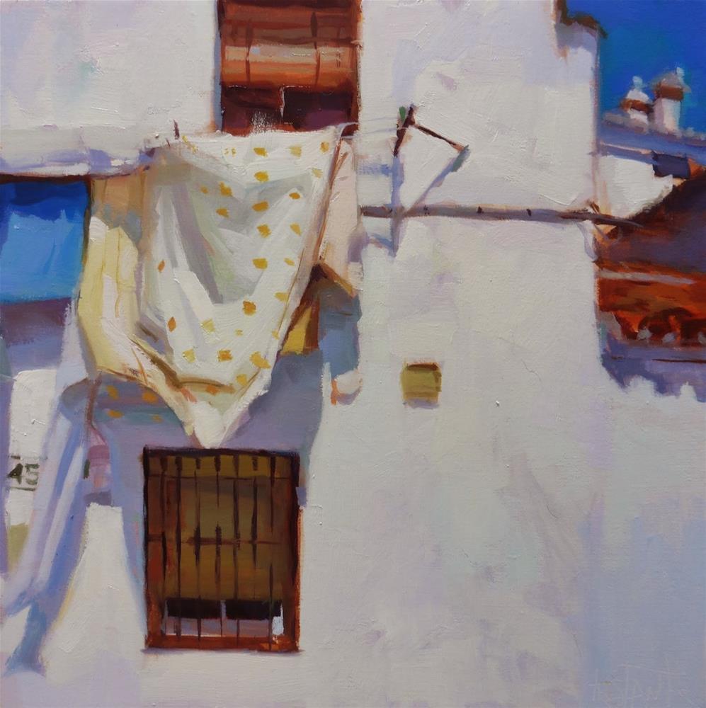 """""""Yellow dots sheet"""" original fine art by Víctor Tristante"""