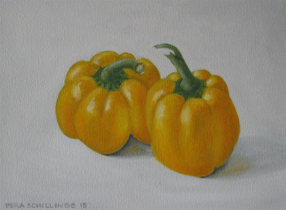 """Yellow Peppers"" original fine art by Pera Schillings"