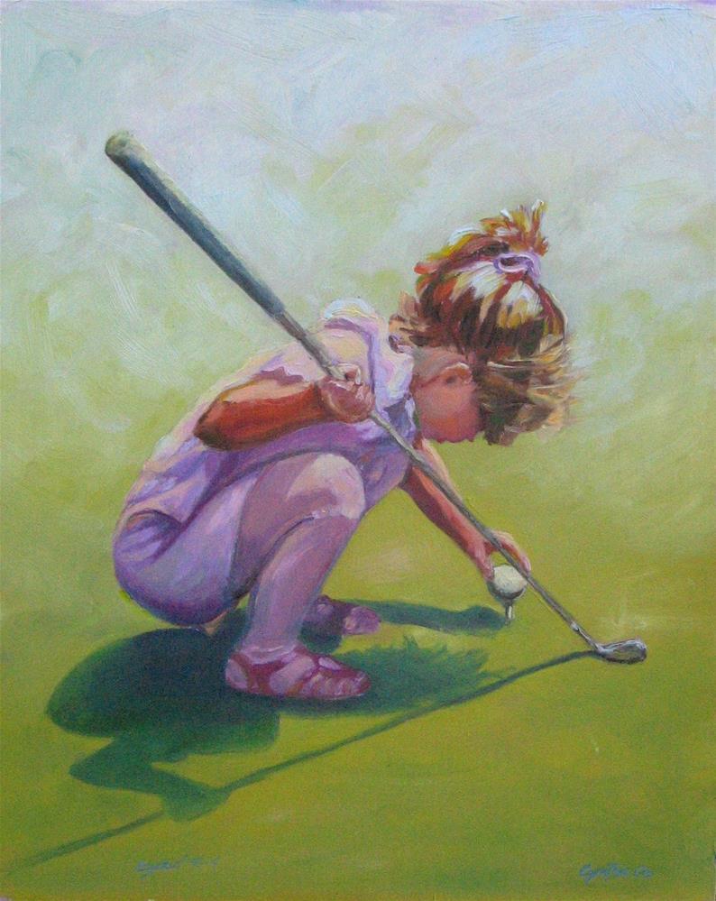 """Tee it Up"" original fine art by Cynthia Mahlberg"